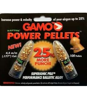 Gamo Pellet Power Pellets 4,5 Fallow deer Municion Carbines, pistols Color: gold