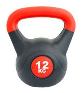 Kettlebell PVC 12 Kg Softee Weights - Ankle Dogged Fitness Color: black