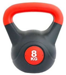 Kettlebell PVC 8 Kg Softee Weights - Ankle Dogged Fitness Color: black